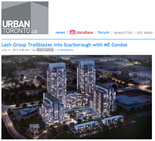 Lash Group of Companies ME Living Condos Urban Toronto